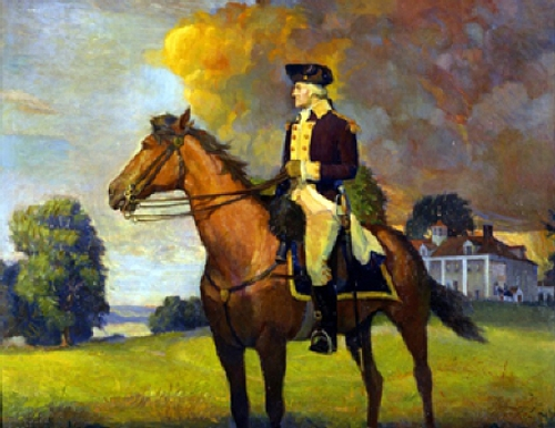 General George Washington At Mount Vernon On His Way South To Yorktown