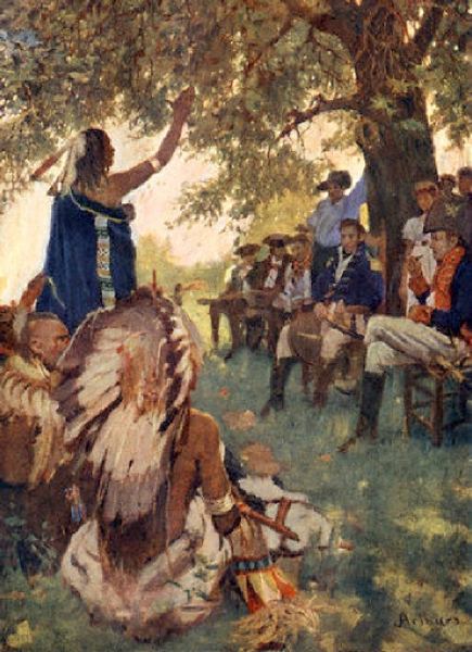 Tecumseh Shawnee Chieftain And William Henry Harrison
