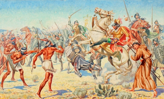 Coronado In The Battle Of Cibola