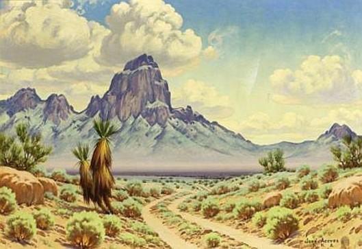 Desert Landscape With Cactus