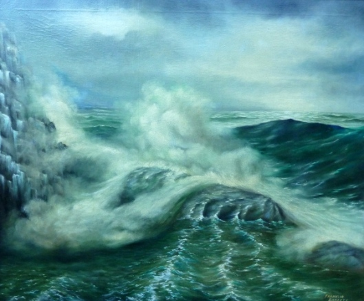 Rocky Coast (painting courtesy of Mr. Howard Tokosh)