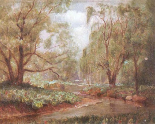 Landscape By Stream