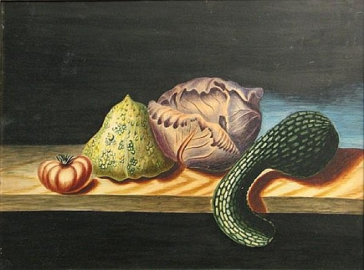 Still Life With Cabbage And Squash