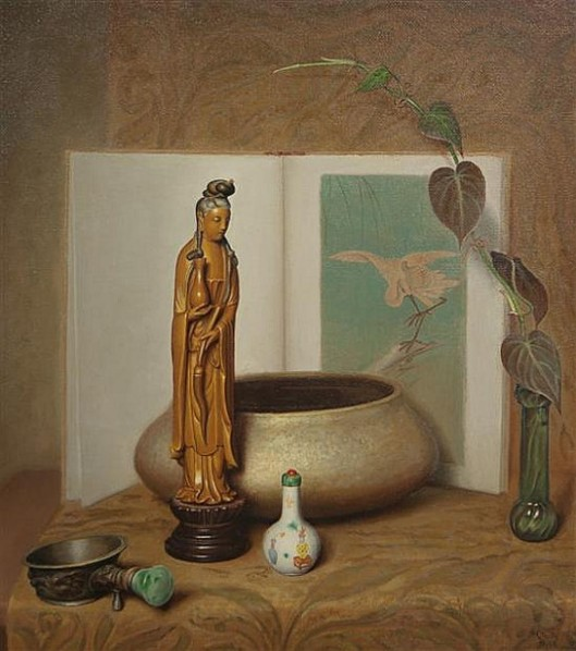 Still Life With Chinese Figurine