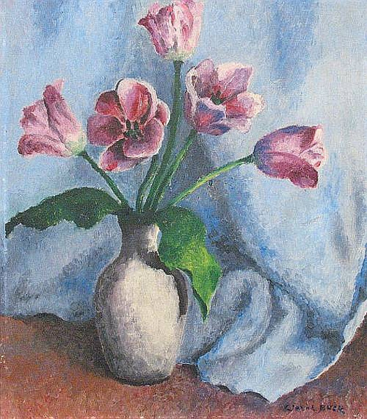 Still Life With Mauve Tulips