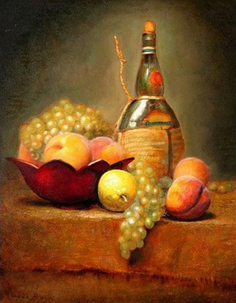 Still Life With Wine And Fruit