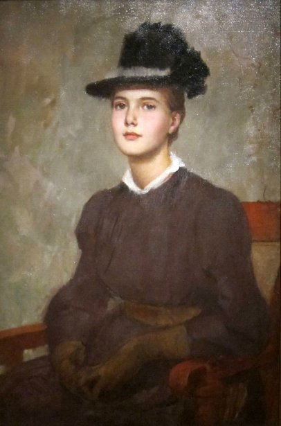 Marie Danforth Page portrayed in 1889 by Frank Duveneck
