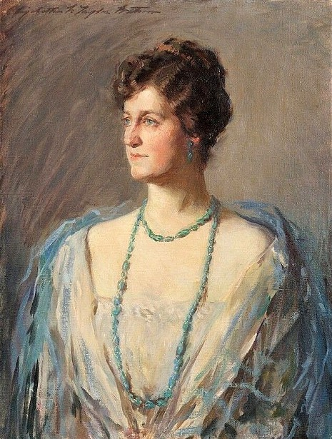 Blue And Teal - Portrait Of A Lady