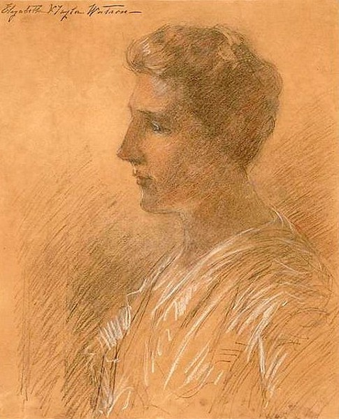 Bust Portrait Of A Woman In Silhouette