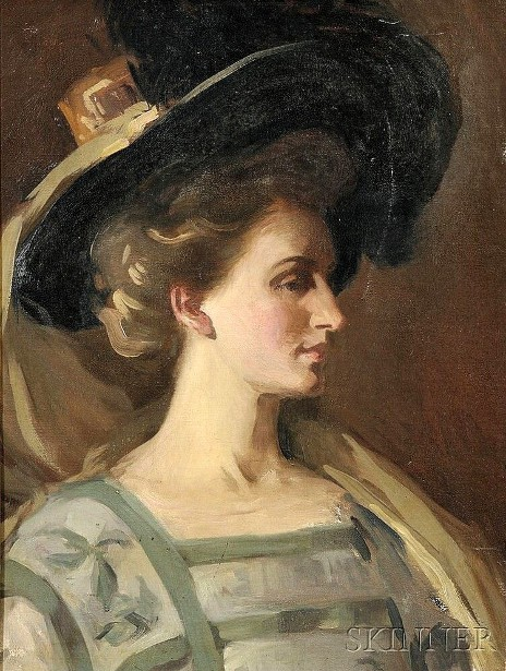 Profile Of A Woman With Hat