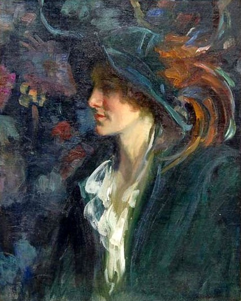 A Lady With Plumed Hat