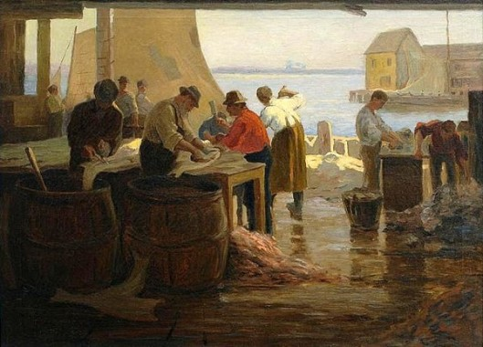 Cleaning Cod, Gloucester Harbor