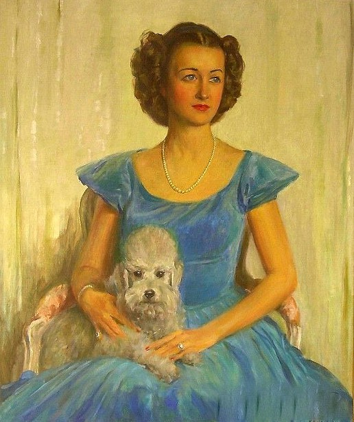 Lady And Her Poodle