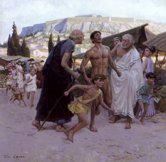 Pheidippides Runs First Marathon To Bring News Of Greek Victory Over Persia