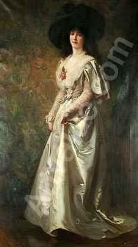 A Young Woman Wearing A White Dress And A Back Hat