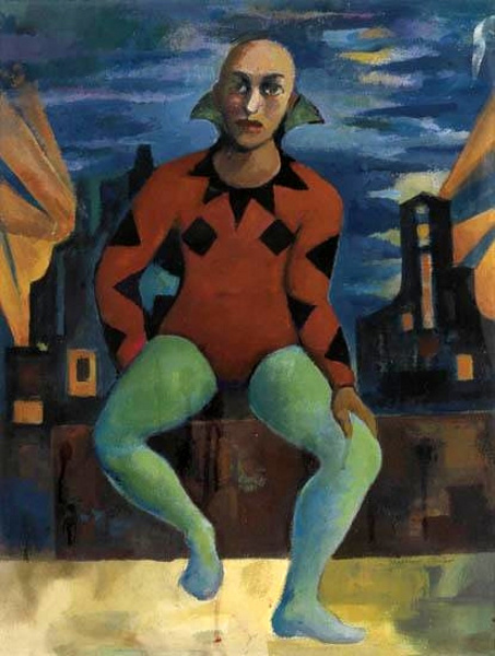 Seated Harlequin