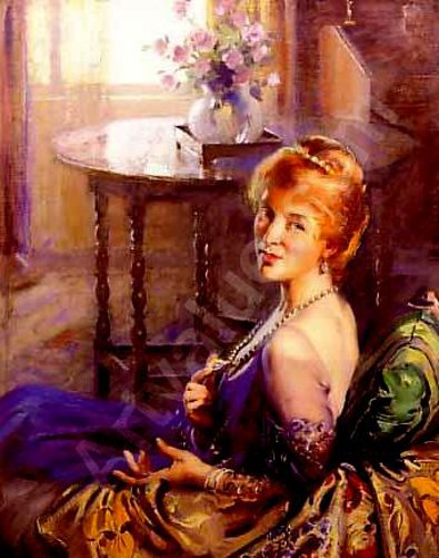 The Pearl Necklace - A Lady In Blue