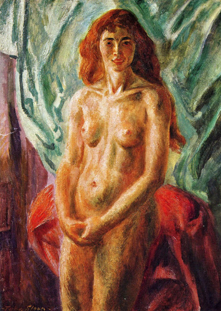 Nude, Red Hair, Standing