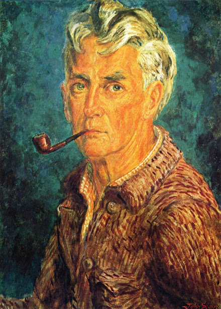 Self-Portrait (Pipe And Brown Jacket)