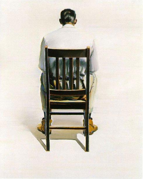Man Sitting - Back View