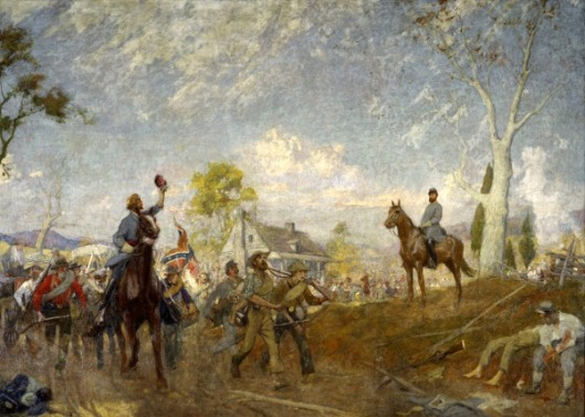 Spring (Thomas Stonewall Jackson reviewing his troops in the Shenandoah Valley)