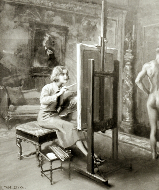 Huguette Clark Painting A Nude Male Model