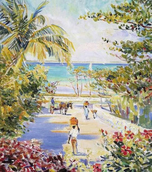 Caribbean Scene - Road To Market