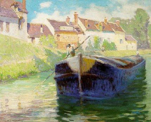 Barge Near A Village