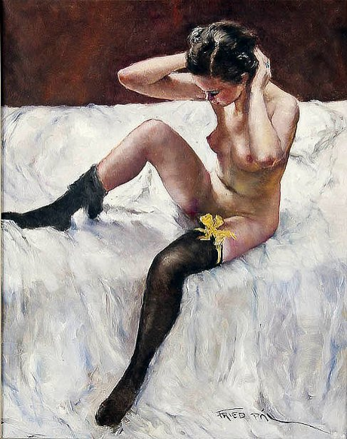 Black Stockings - A Seated Nude