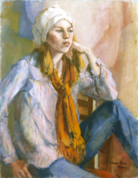 Woman With Orange Scarf