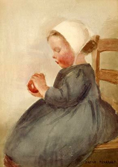 Little Girl With An Apple