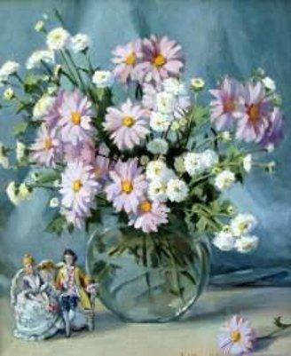 Love Seat & Spring Flowers