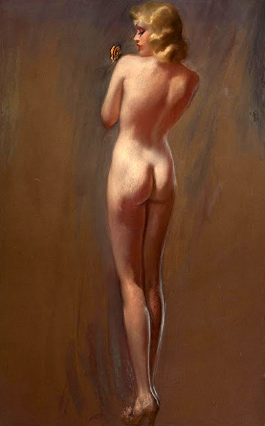 Nude With Butterfly