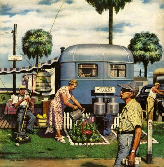 Trailer Park Garden - Caravan Suburbia