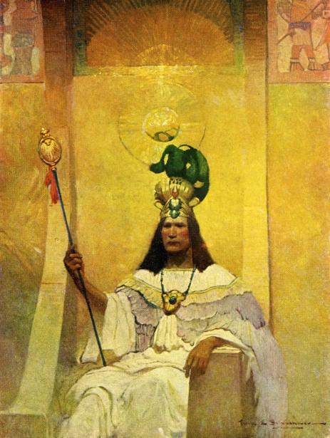With Cortes The Conqueror - Montezuma