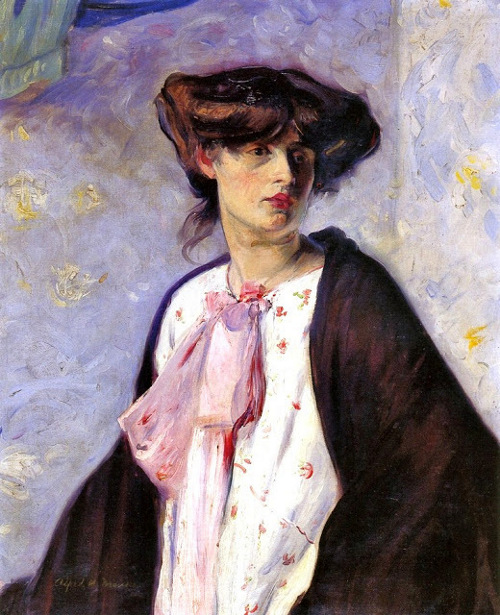 Woman With A Pink Bow - Portrait Of A Lady