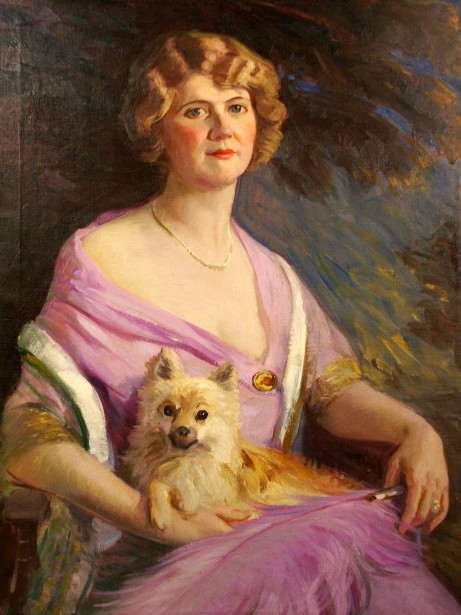 A Lady With Dog