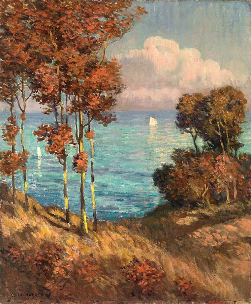 Sailboats Through The Trees