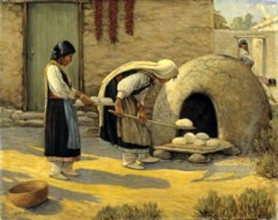 Women Baking Bread