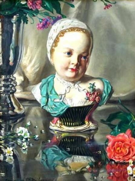 Porcelain Bust & Still Life