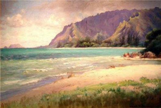 Punaluu, Mokapu Peninsula In The Distance
