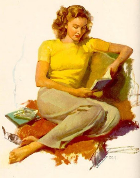 Woman In Yellow Shirt Reading