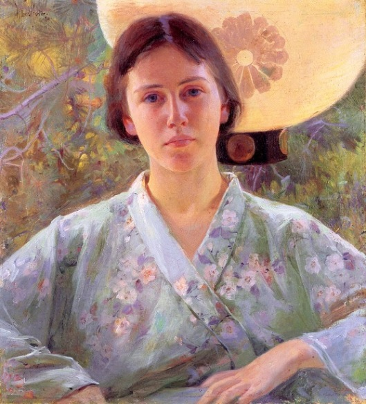 A Lady In A Kimono