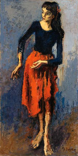 Dancer In Red Skirt