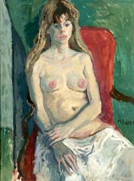 Young Woman In White Slip