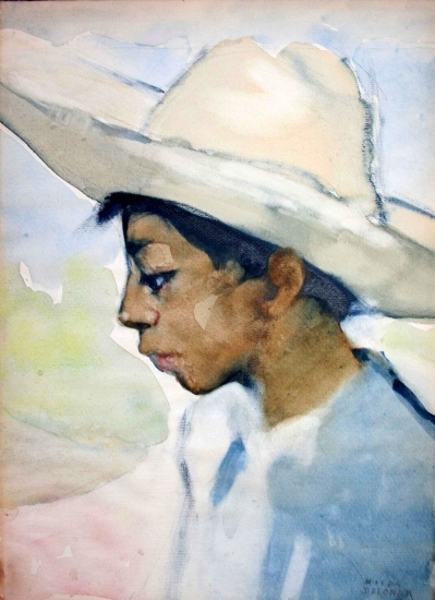 Boy With Sombrero