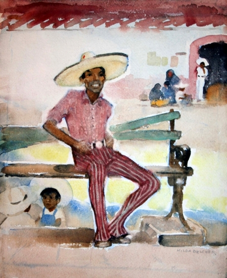 Seated Mexican Man