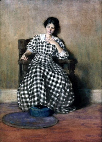 The Checkered Dress (Artist Georgia O'Keeffe)