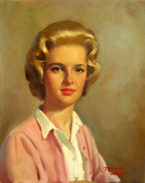 Bouffant Blonde Beauty In Pink