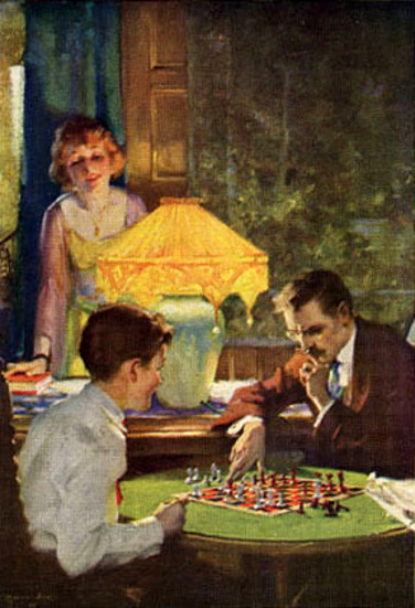 Chess By Lamplight